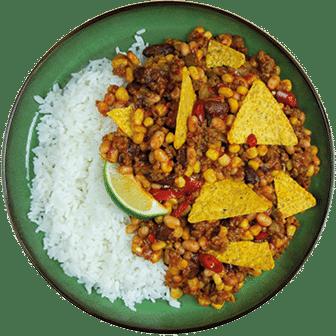Mexicaanse Bonenschotel, Nacho's en Rijst
