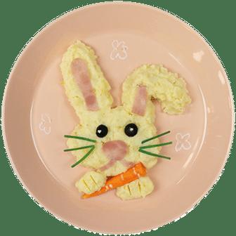 Kindermaaltijd Konijn van Aardappelpuree
