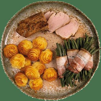 Varkenshaas, Haricot Verts en Pommes Duchesse